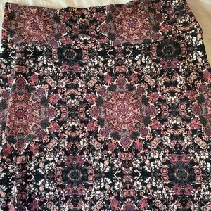 Charlotte Russe body con maroon paisley skirt